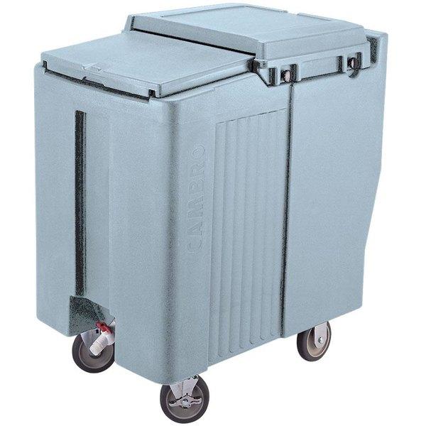 Cambro ICS125T401 SlidingLid™ Slate Blue Portable Ice Bin - 125 lb. Capacity Tall Model