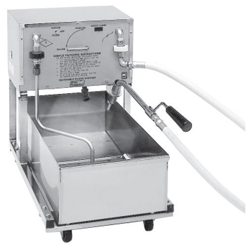 Pitco P24 160 lb. Portable Fryer Oil Filter Machine - 120V