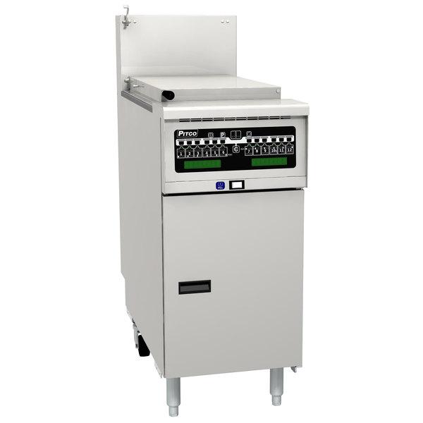 Pitco SRTG14-I12 Natural Gas 17.5 Gallon Commercial Pasta Cooker with I12 Computer Controls - 55,000 BTU