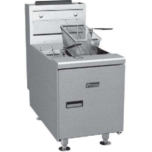 Pitco SGC Liquid Propane 35 lb. Countertop Fryer with Millivolt Controls - 75,000 BTU