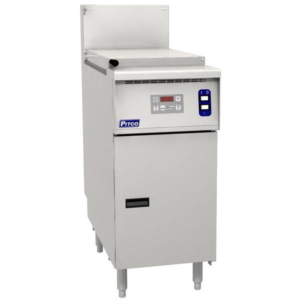 Pitco SRTG14-D Natural Gas 17.5 Gallon Commercial Pasta Cooker with Digital Controls - 55,000 BTU