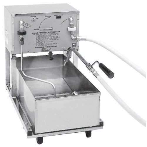 Pitco RP18 75 lb. Portable Fryer Oil Filter Machine with Reversible Pump - 120V Main Image 1