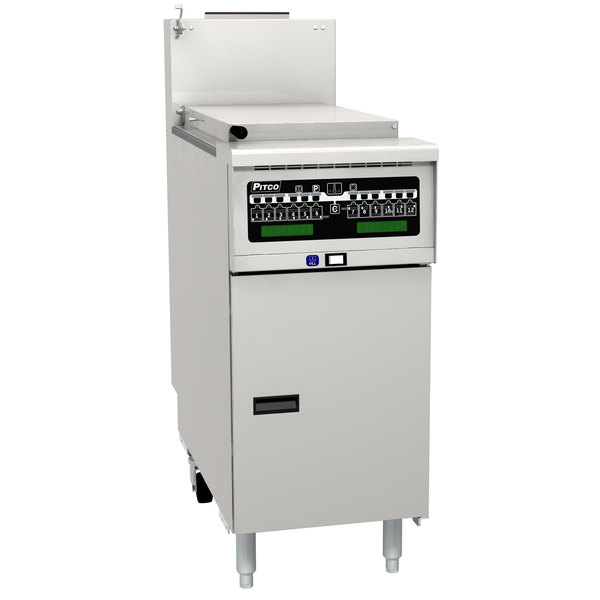Pitco SRTE14-I12 16.5 Gallon Electric Commercial Pasta Cooker with I12 Computer Controls - 208V, 1 Phase