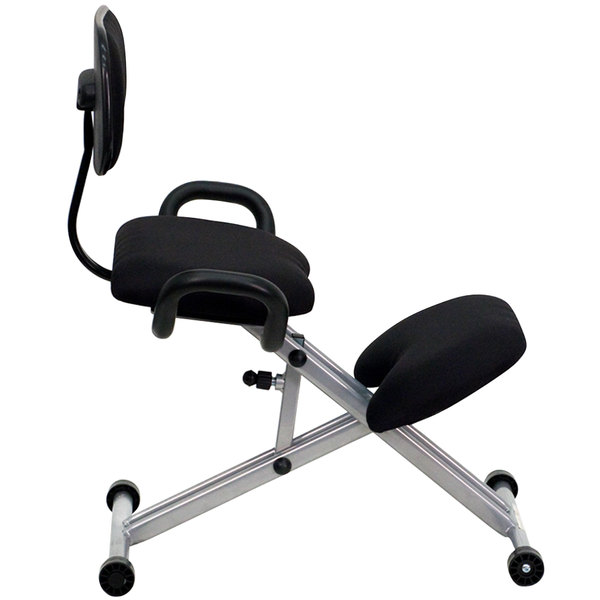Ergonomic kneeling office chairs Chest Support Ergonomic Kneeling Office Chair With Silver Steel Frame Main Picture Image Preview Webstaurantstore Flash Furniture Wl3439gg Black Ergonomic Kneeling Office Chair
