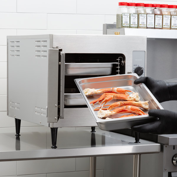 Cleveland 21CET8 SteamCraft Ultra 3 Pan Electric Countertop Steamer - 208V, 3 Phase, 8.3 kW Main Image 6