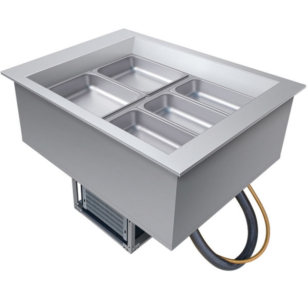 Hatco CWB-2 Two Pan Slanted Refrigerated Drop-In Cold Food Well with Drain - 120V