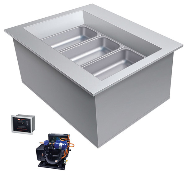 Hatco CWBR-1 One Pan Slanted Refrigerated Drop-In Cold Food Well with Drain and Remote Condenser - 120V Main Image 1