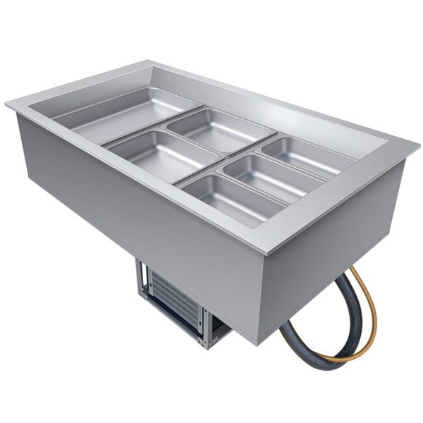 Hatco CWB-3 Three Pan Slanted Refrigerated Drop-In Cold Food Well with Drain - 120V