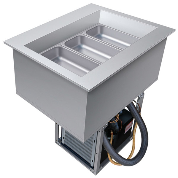 Hatco CWB-1 One Pan Slanted Refrigerated Drop-In Cold Food Well with Drain - 120V Main Image 1