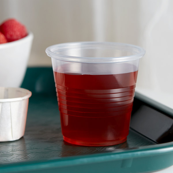 Choice 3.5 oz. Translucent Thin Wall Plastic Cold Cup - 2500/Case Main Image 2