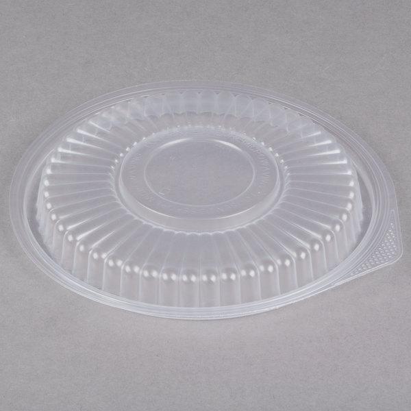 Genpak FP916 Smart-Set Pro Clear Plastic Round Microwaveable Lid - 300/Case