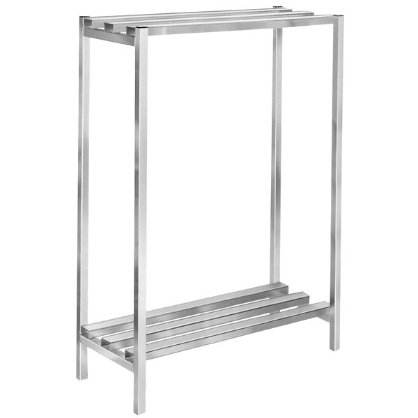 "Channel DR2048-2 48"" x 20"" x 64"" Two Shelf Aluminum Dunnage Shelving Unit - 2500 lb. Capacity"