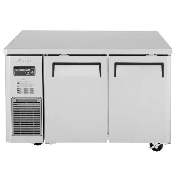 "Turbo Air JUR-48N J Series 48"" Narrow Depth Solid Door Undercounter Refrigerator with Side Mounted Compressor"