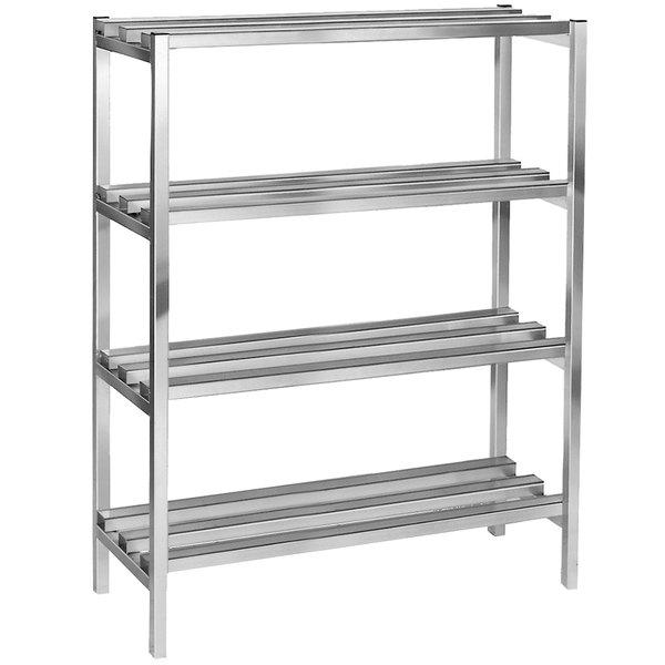 """Channel DR2060-4 60"""" x 20"""" x 64"""" Four Shelf Aluminum Dunnage Shelving Unit - 2500 lb. Capacity"""
