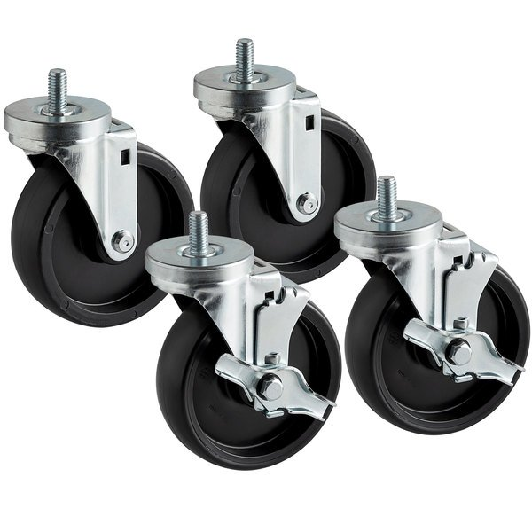 """Beverage-Air 61C01-001A Equivalent 6"""" Replacement Casters - 4/Set Main Image 1"""