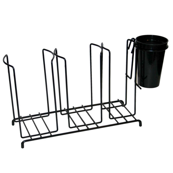 San Jamar C8003WFS 3 Stack Horizontal Cup and Lid Wire Organizer Main Image 1