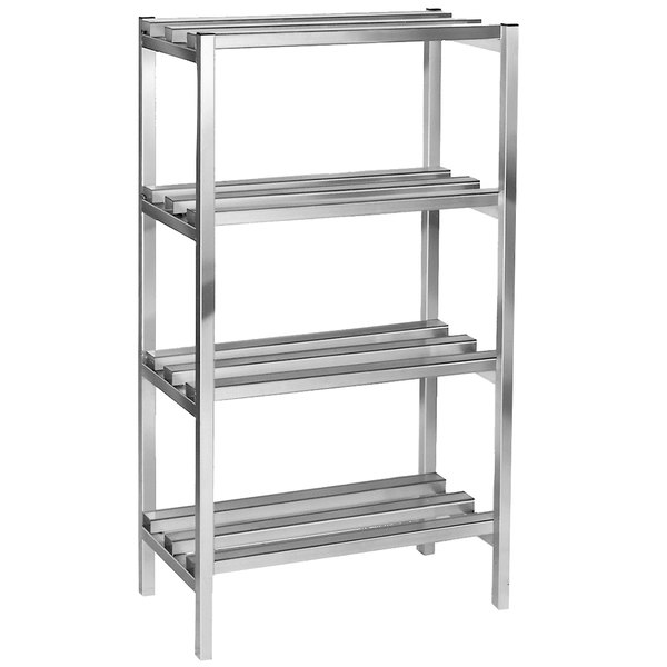 "Channel DR2436-4 36"" x 24"" x 64"" Four Shelf Aluminum Dunnage Shelving Unit - 2500 lb. Capacity"