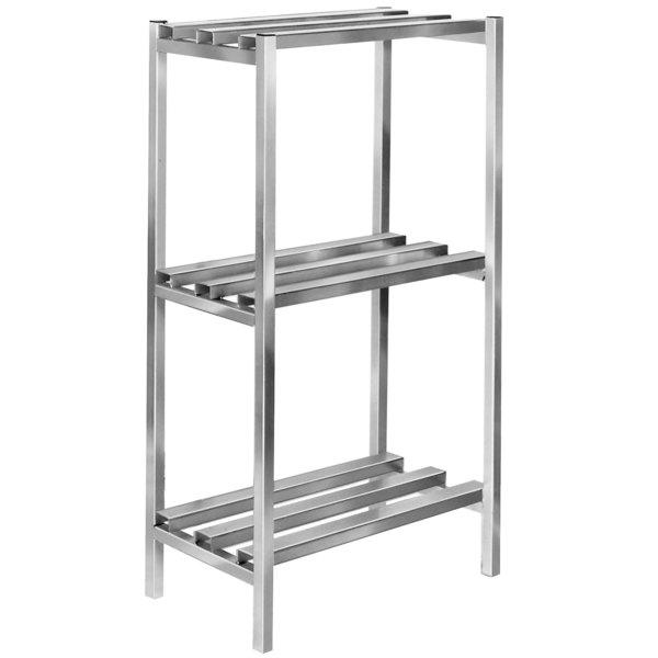 "Channel DR2436-3 36"" x 24"" x 64"" Three Shelf Aluminum Dunnage Shelving Unit - 2500 lb. Capacity Main Image 1"