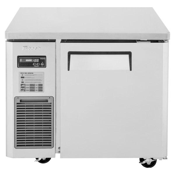 "Turbo Air JUR-36N J Series 36"" Narrow Depth Solid Door Undercounter Refrigerator with Side Mounted Compressor"