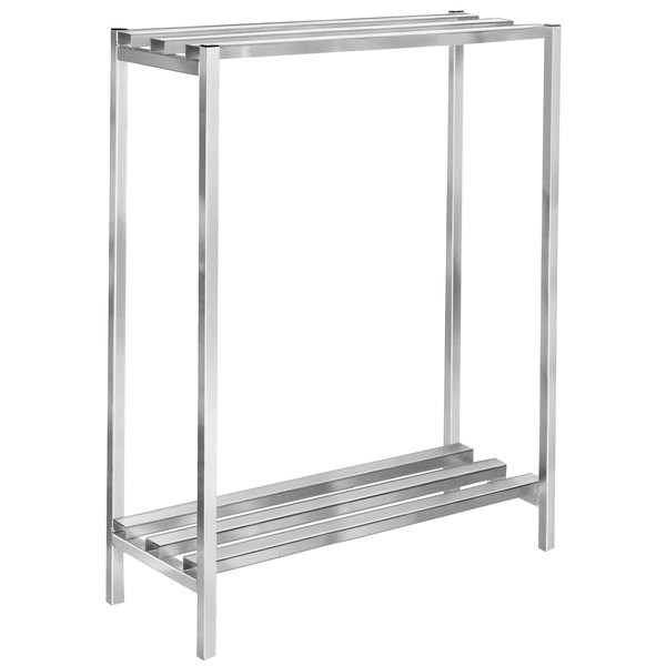 "Channel DR2460-2 60"" x 24"" x 64"" Two Shelf Aluminum Dunnage Shelving Unit - 2500 lb. Capacity"