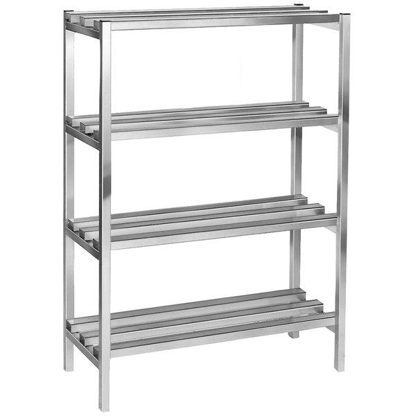"Channel DR2448-4 48"" x 24"" x 64"" Four Shelf Aluminum Dunnage Shelving Unit - 2500 lb. Capacity Main Image 1"
