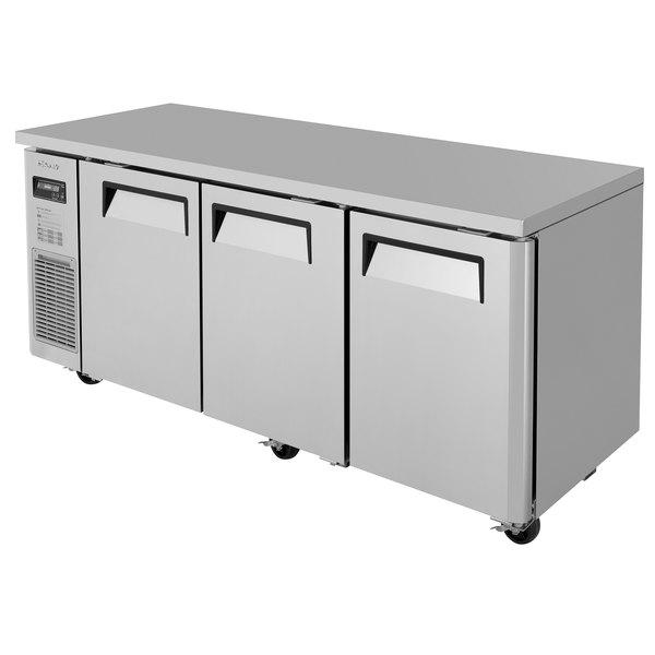 "Turbo Air JUR-72N J Series 72"" Narrow Depth Solid Door Undercounter Refrigerator with Side Mounted Compressor"