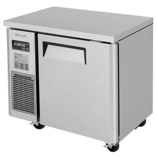 """Turbo Air JUF-36S-N J Series 36"""" Narrow Undercounter Freezer with Side Mounted Compressor Main Image 1"""