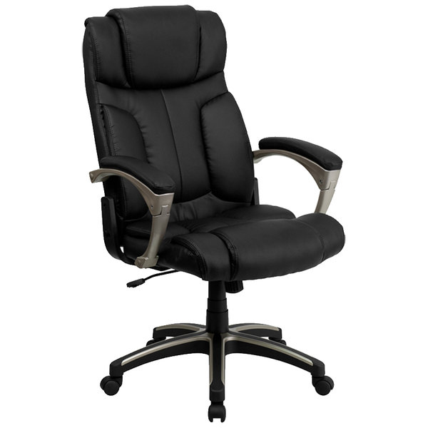 Flash Furniture BT-9875H-GG High-Back Folding Black Leather Executive Office Chair Main Image 1