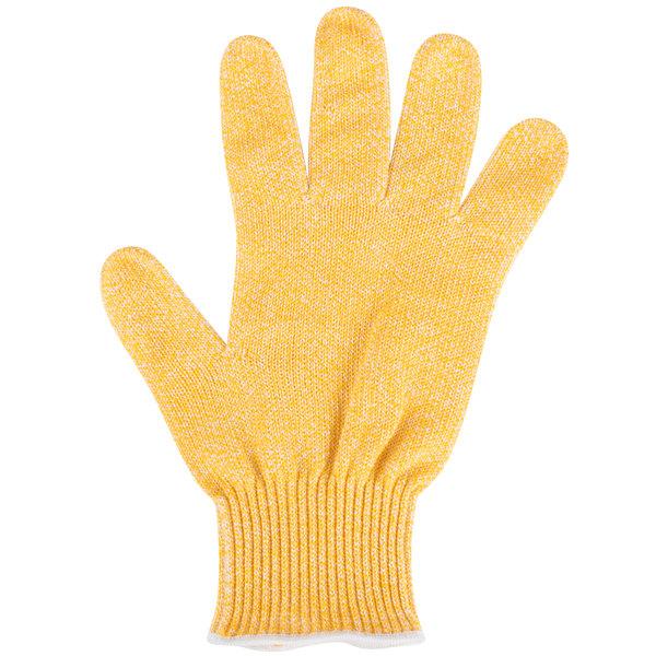 San Jamar SG10-Y-M Yellow Cut Resistant Glove with Dyneema - Medium
