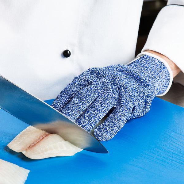 San Jamar SG10-BL-S Blue Cut Resistant Glove with Dyneema - Small