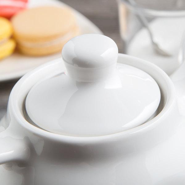 Tuxton BWT-180L DuraTux White China Replacement Lid for BWT-180 Teapot - 12/Case