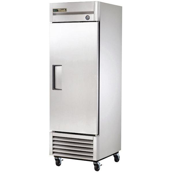True T-23 27 inch One Section Solid Door Reach-In Refrigerator - 19.5 cu. ft.