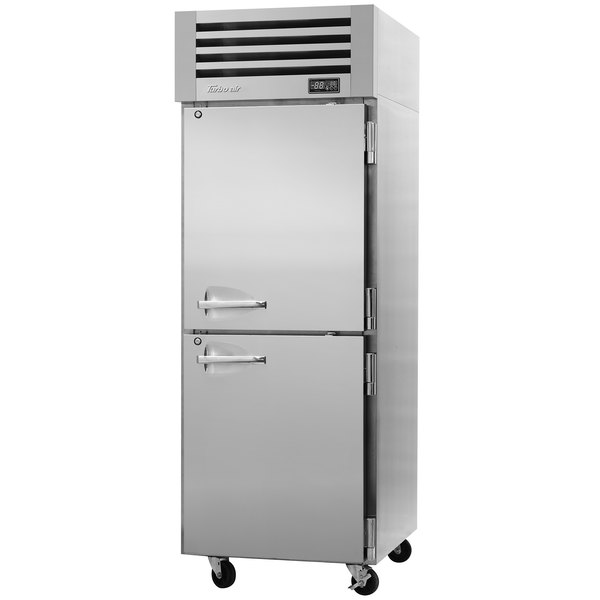 "Turbo Air PRO-26-2R-PT-N Pro Series 29"" Solid Half Door Pass-Through Refrigerator Main Image 1"