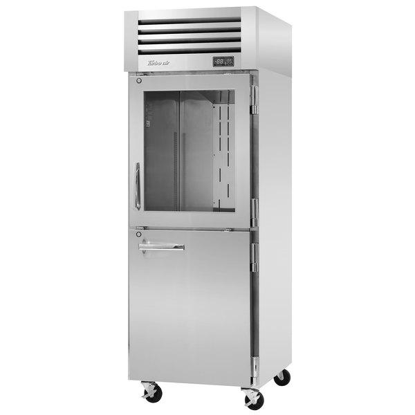 "Turbo Air PRO-26R-GSH-N Pro Series 29"" Glass / Solid Half Door Reach In Refrigerator Main Image 1"