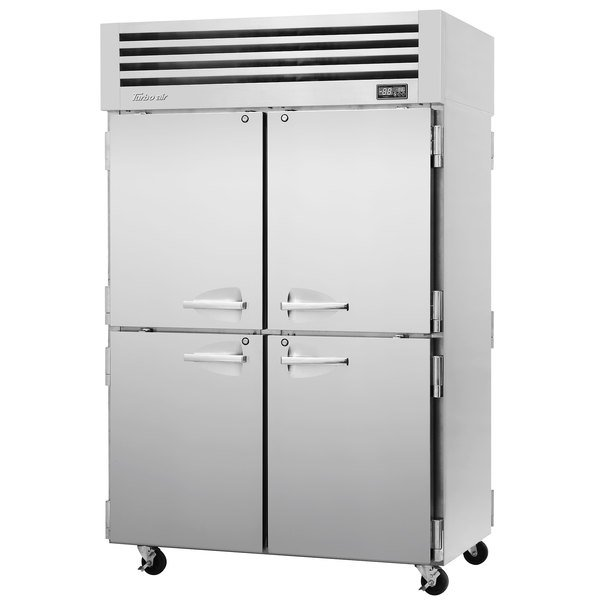 "Turbo Air PRO-50-4R-PT-N Pro Series 52"" Solid Half Door Pass-Through Refrigerator Main Image 1"