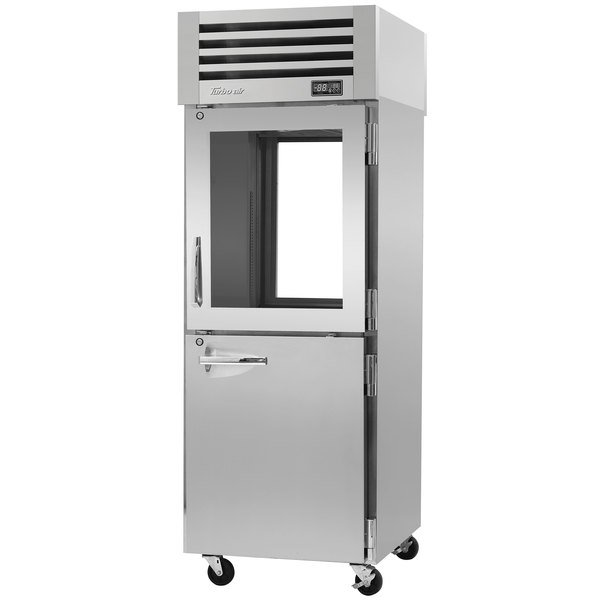 "Turbo Air PRO-26R-GSH-PT-N Pro Series 29"" Glass / Solid Half Door Pass-Through Refrigerator"