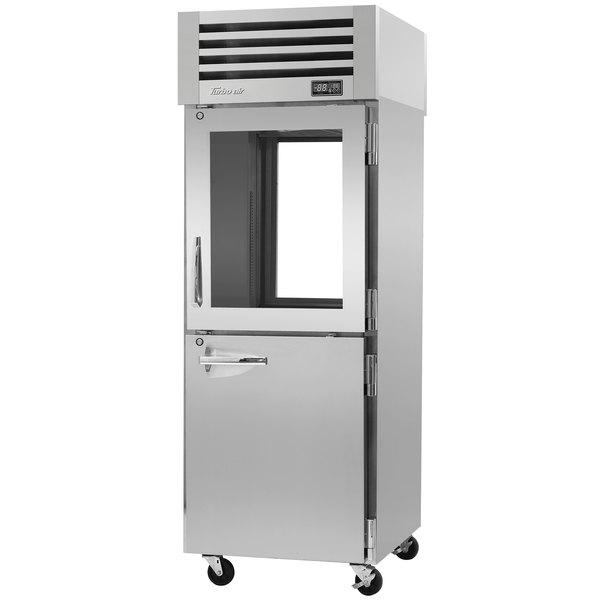"Turbo Air PRO-26R-GSH-PT Pro Series 29"" Glass / Solid Half Door Pass-Through Refrigerator"