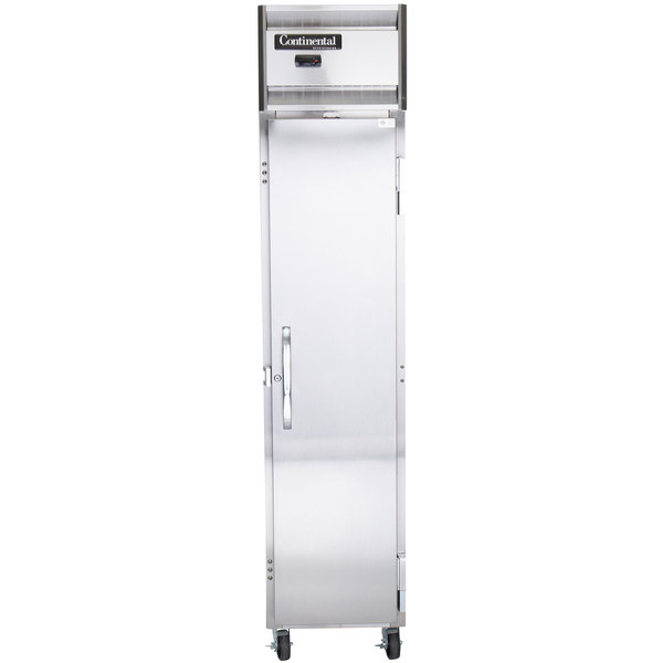 "Continental Refrigerator 1RSE 18"" One Section Narrow Reach-In Refrigerator - 15 Cu. Ft. Main Image 1"