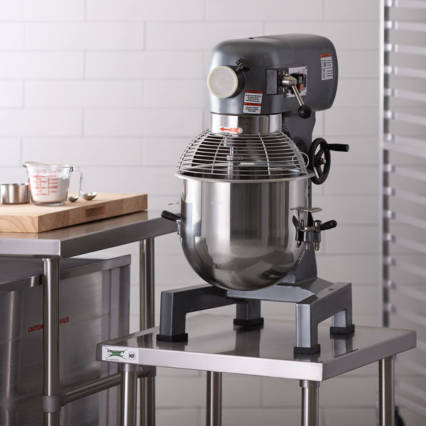 Avantco MX20 20 Qt  Gear Driven Commercial Planetary Stand Mixer with Guard  - 110V, 1 hp