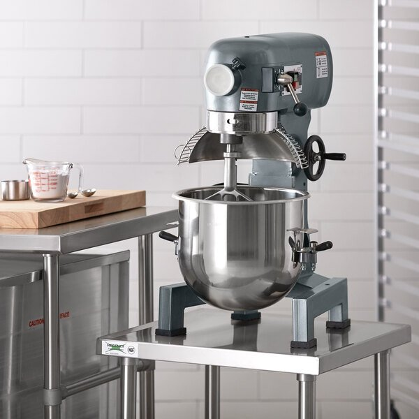 Avantco MX20 20 Qt. Gear-Driven Commercial Planetary Stand Mixer with Guard - 120V, 1 1/2 hp Main Image 5