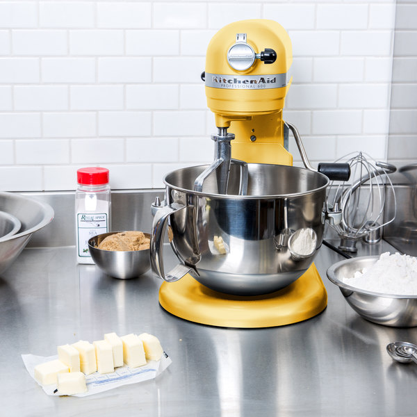 KitchenAid KP26M1XMY Majestic Yellow Professional 600 Series 6 Qt.  Countertop Mixer
