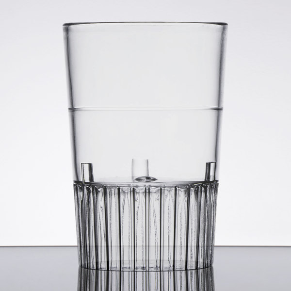 Fineline Quenchers 4110-CL 1 oz. Clear Hard Plastic Shooter Glass - 10/Pack