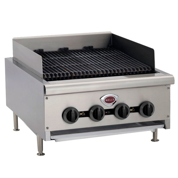 "Wells HDCB-1230G Natural Gas Heavy Duty 14"" Charbroiler - 40,000 BTU"