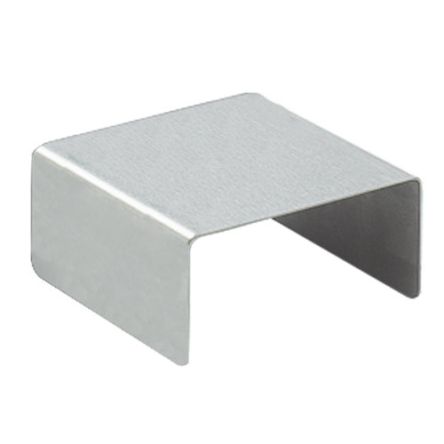 """Cal-Mil 239-2 5"""" x 2"""" Stainless Steel Open Square Riser"""