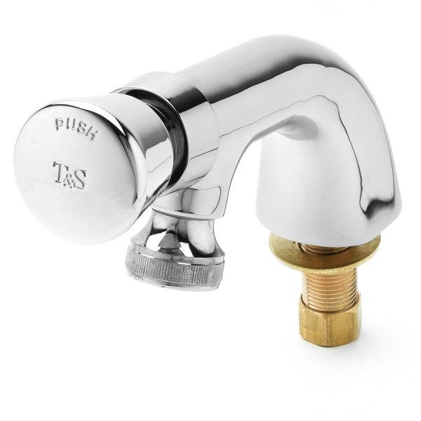 Blank T&S B-0806 Slow Self-Closing Single Temperature Metering Faucet - Deck Mounted