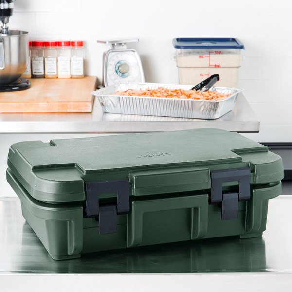 """Cambro UPC140192 Granite Green Camcarrier Ultra Pan Carrier - Top Load for 12"""" x 20"""" Food Pan"""