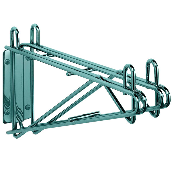 "Metro 2WD18K3 Super Erecta Metroseal 3 Double Direct Wall Mount Bracket for Adjoining 18"" Shelves"