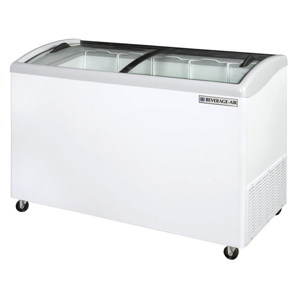 "Beverage Air NC51-1-W 51"" Curved Lid Novelty Display Freezer"