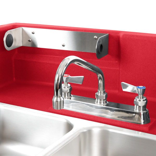 Cambro Ksc402158 Hot Red Camkiosk Portable Self Contained Hand Sink Cart 110v