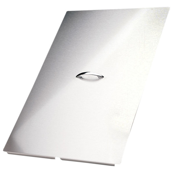 "Pitco B2101505-C 15 1/2"" x 24 5/8"" Stainless Steel Fryer Cover"